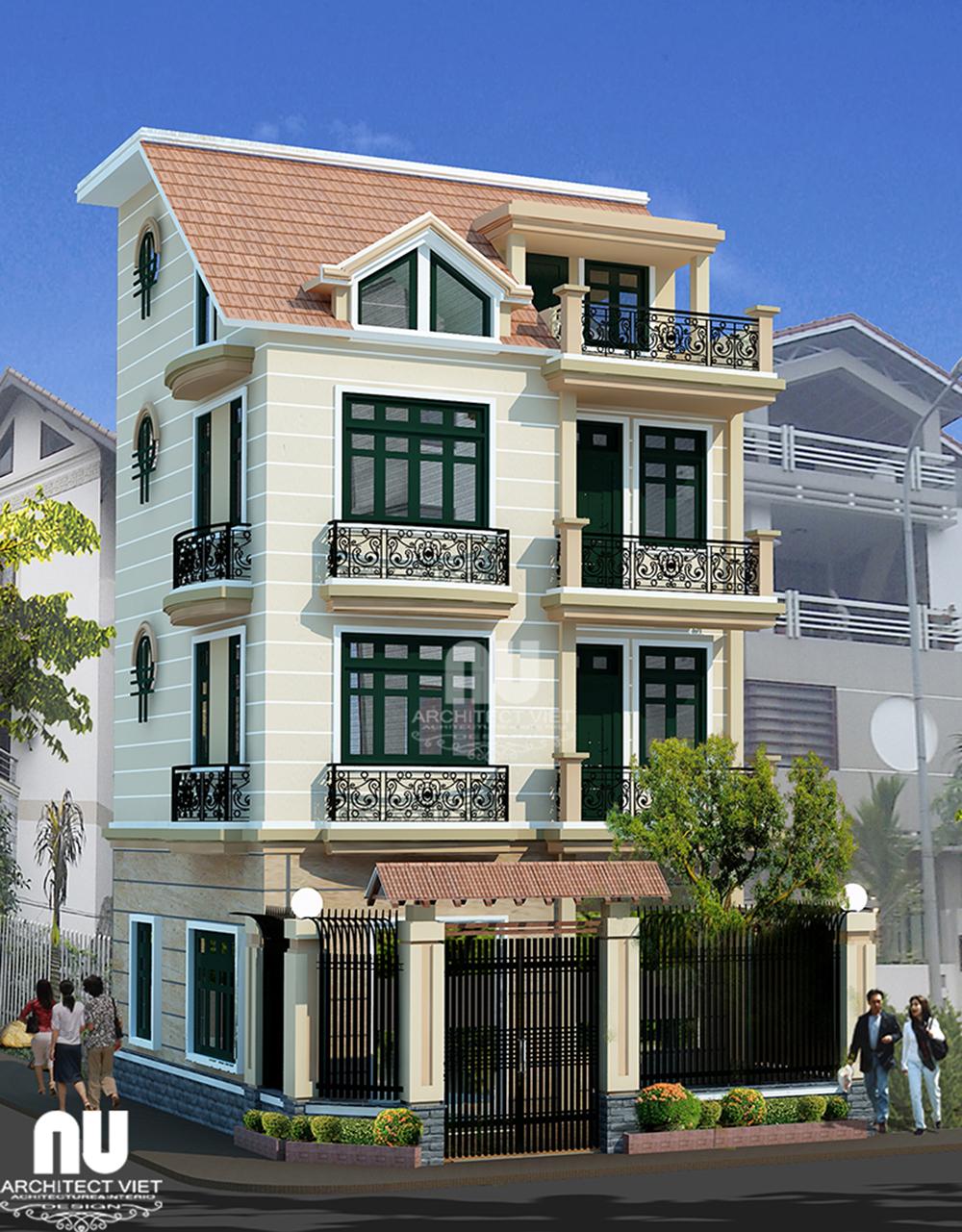 Thiết kế nhà phố 3,5 tầng Đại Kim Hoàng Mai2