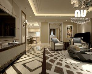 Thiết kế nội thất chung cư Eco Green 5a