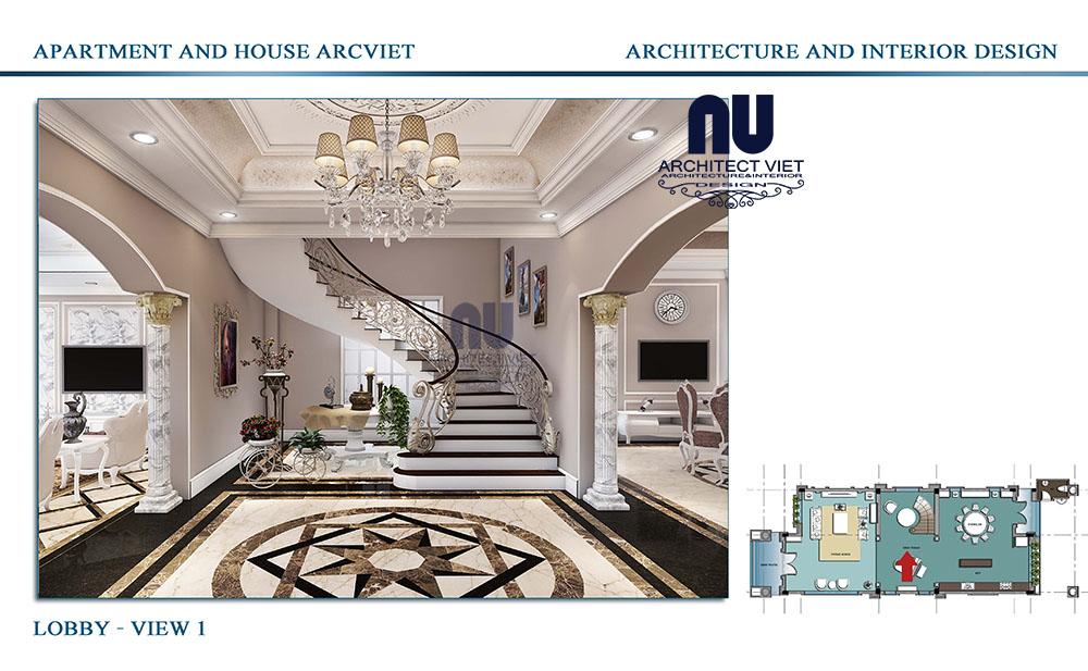 Thiết kế nội thất biệt thự Vinhomes Riverside tân cổ điển