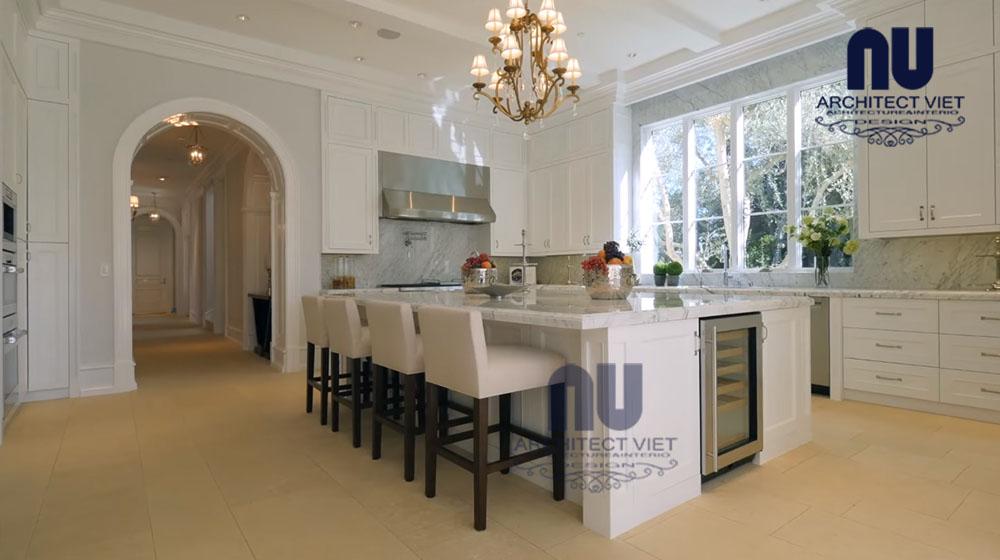 thiết kế nội thất phòng ăn bên trong phòng bếp