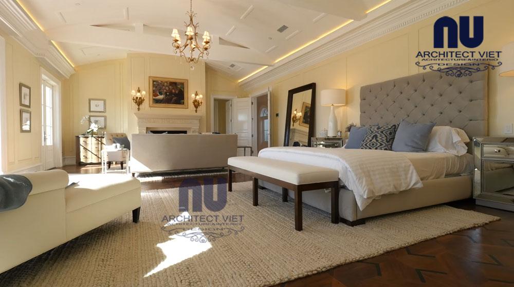 hình ảnh phòng ngủ rộng trong biệt thự vinpearl