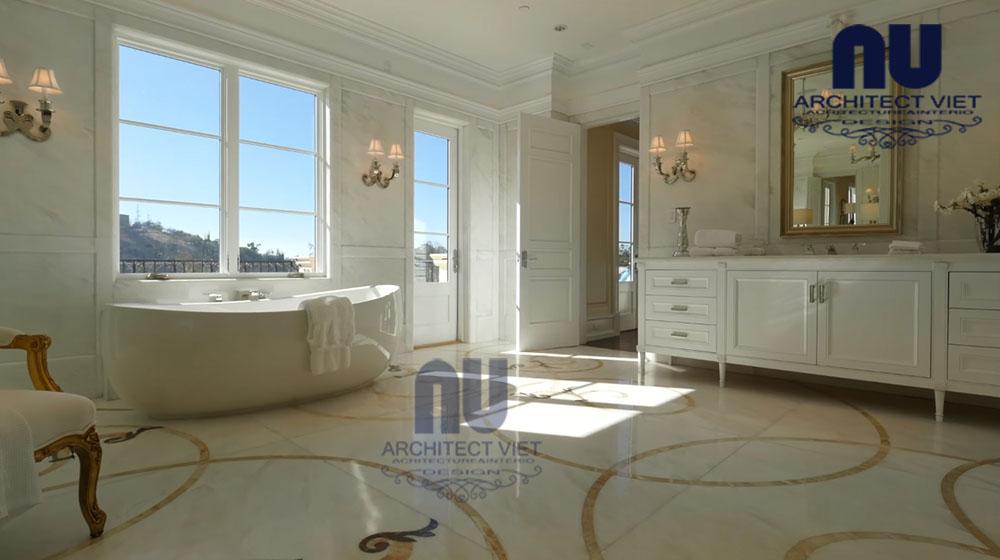thiết kế nội thất phòng tắm theo phong cách châu âu