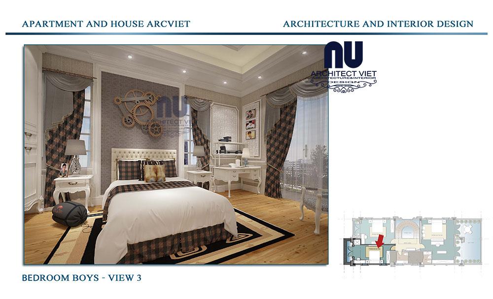 thiết kế kiến trúc nội thất tân cổ điển