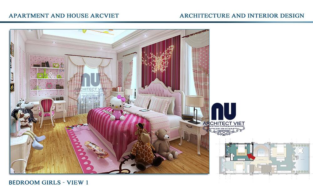 Thiết kế phòng ngủ của con gái