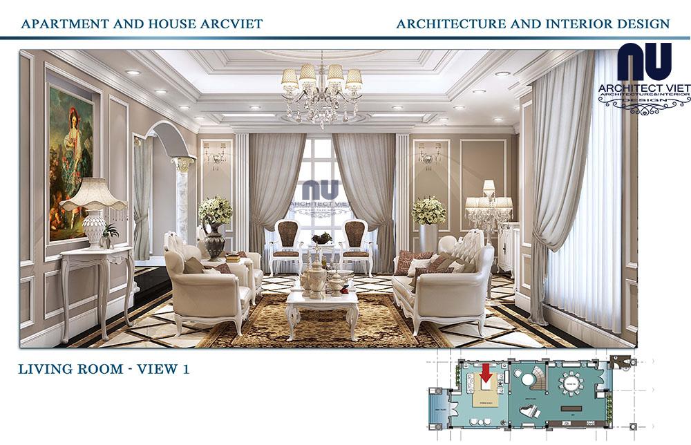 Thiết kế kiến trúc biệt thự tân cổ điển vinhomes