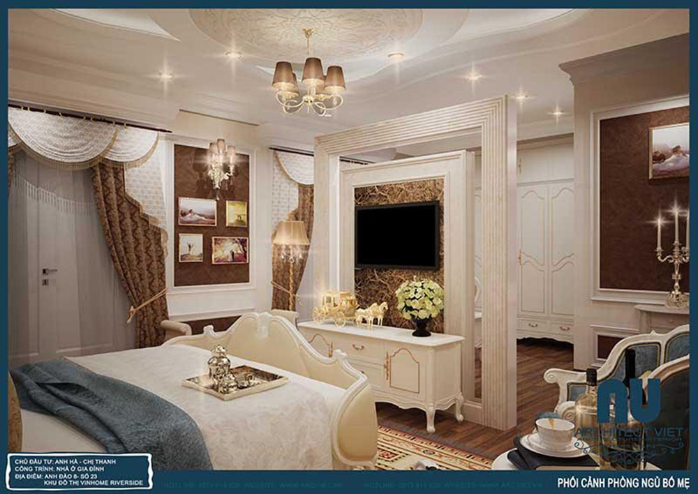Thiết kế nội thất phòng ngủ view 2