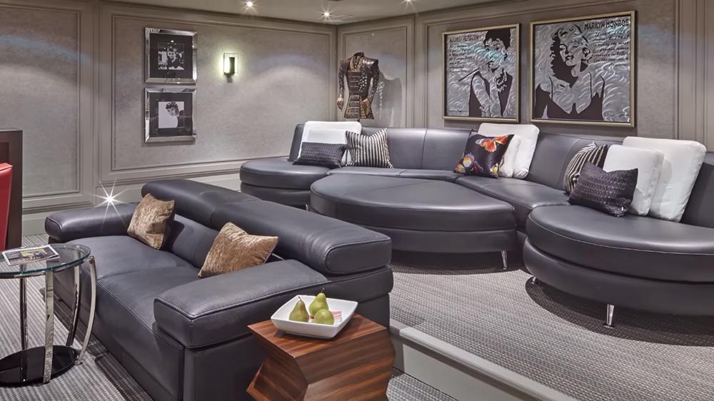 Thiết kế nội thất biệt thự hiện đại KĐT Ecopark với không gian phòng khách rộng