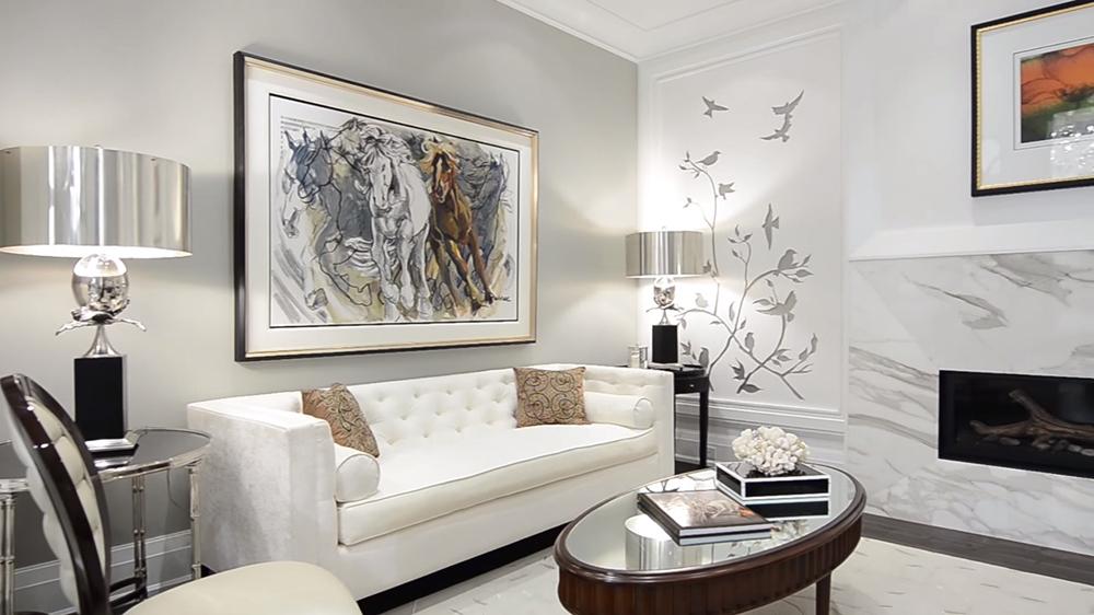 Thiết kế nội thất biệt thự Ecopark hiện đại với không gian phòng khách