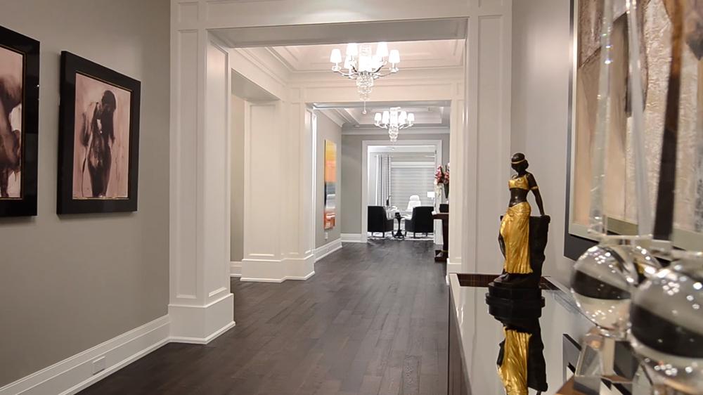 Thiết kế nội thất biệt thự hiện đại KĐT Ecopark với hành lang rộng
