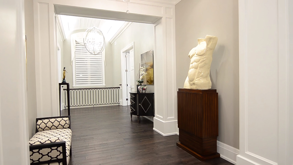 Thiết kế nội thất biệt thự hiện đại KĐT Ecopark với hành lang đẹp