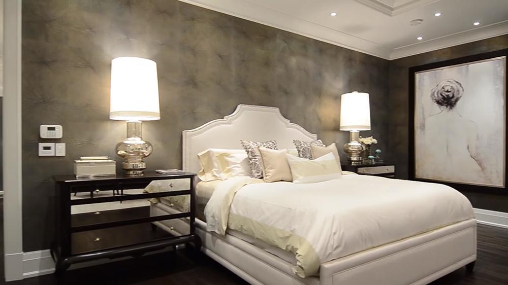 Thiết kế nội thất biệt thự hiện đại KĐT Ecopark với phòng ngủ lãng mạn