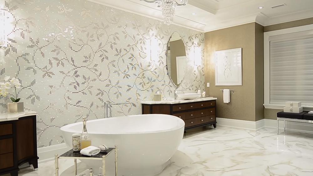 Thiết kế nội thất biệt thự hiện đại KĐT Ecopark với hình ảnh phòng tắm đẹp