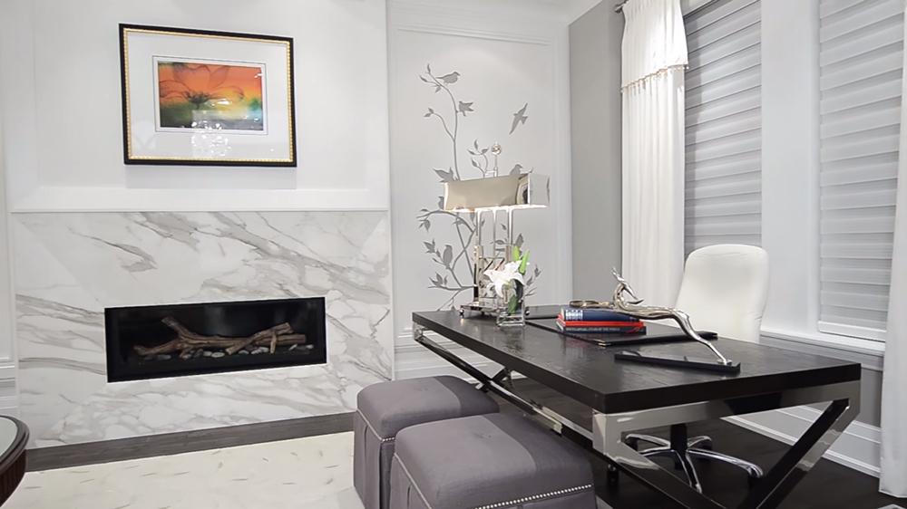 Thiết kế nội thất biệt thự hiện đại KĐT Ecopark với tone màu đen trắng
