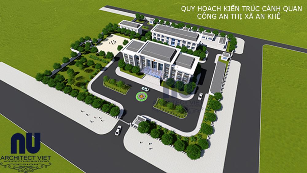 Quy hoạch kiến trúc cảnh quan Công an thị xã An Khê - Ảnh hiện trạng ban đầu 1
