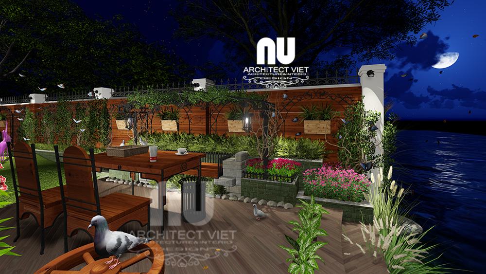 Thiết kế cảnh quan sân vườn biệt thự tân cổ điển Vinhomes Riverside18