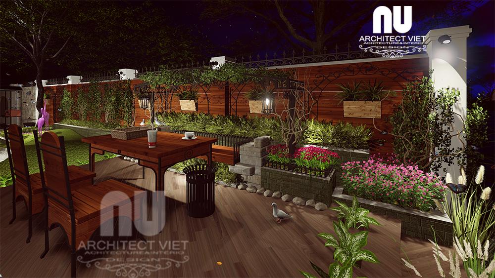 Thiết kế cảnh quan sân vườn biệt thự tân cổ điển Vinhomes Riverside20