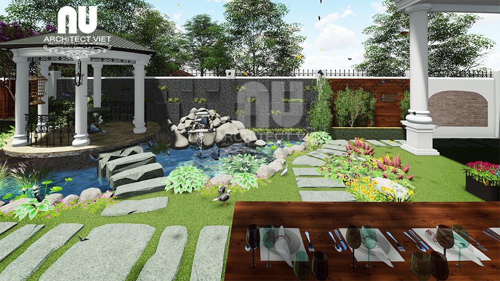 hình ảnh cảnh quan sân vườn biệt thự vinhomes