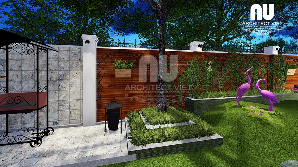 thiết kế cảnh quan sân vườn biệt thự với những chi tiết trang trí đẹp mắt