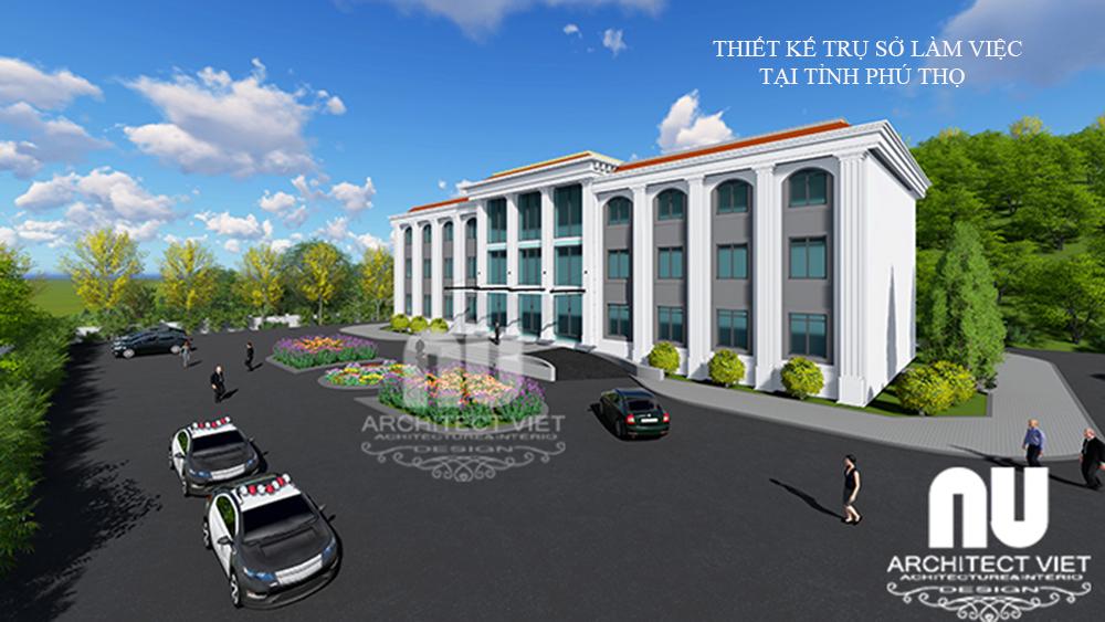 Thiết kế trụ sở văn phòng làm việc tại tỉnh Phú Thọ1