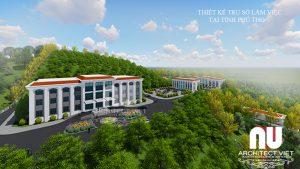 Thiết kế trụ sở văn phòng làm việc tại tỉnh Phú Thọ3