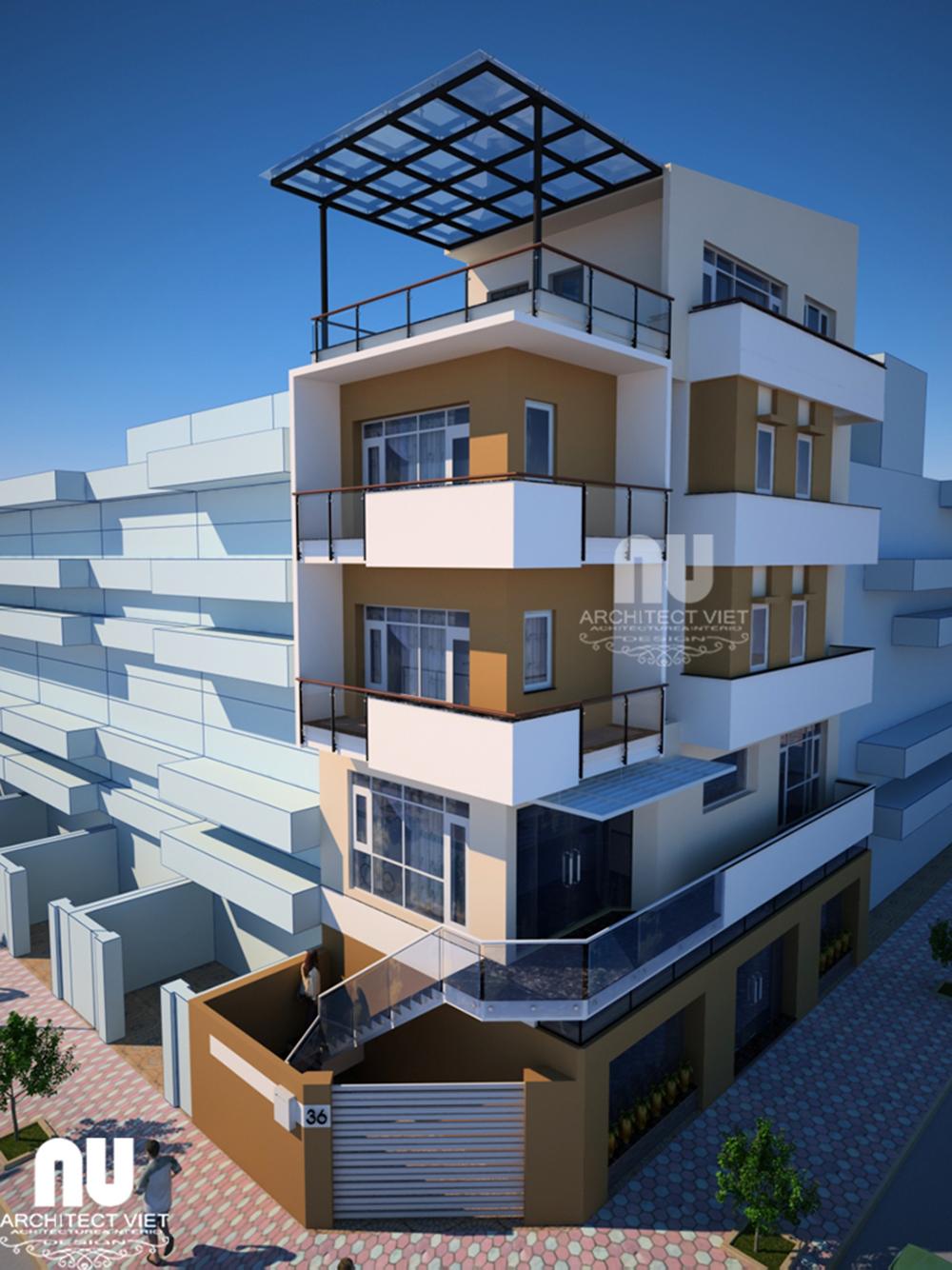 Thiết kế nhà phố thương mại khu đô thị linh đàm1