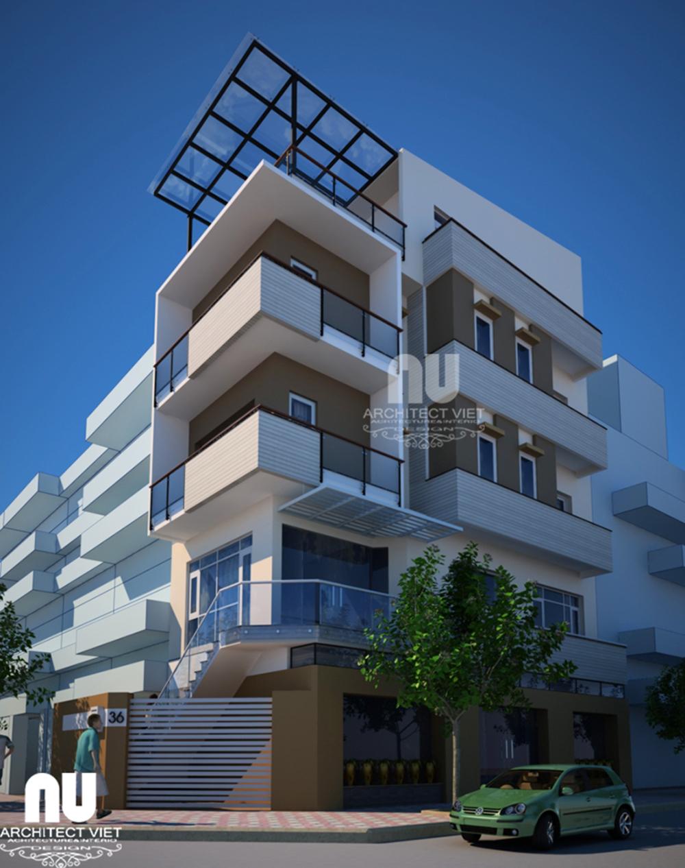 Thiết kế nhà phố thương mại khu đo thị Linh Đàm2