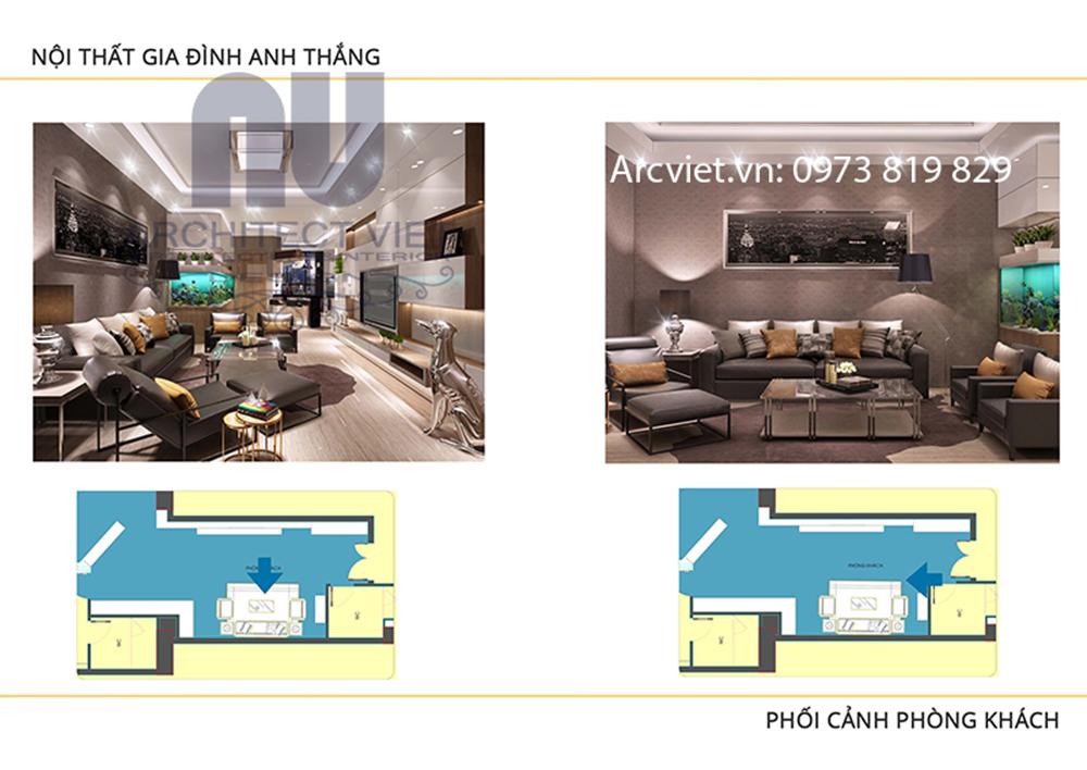 Thiết kế nội thất chung cư đẹp hiện đại 80m