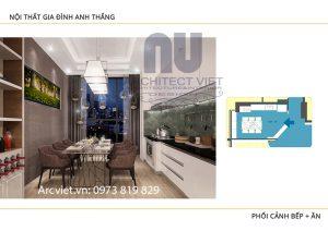 Thiết kế nội thất chung cư đẹp hiện đại 80m24