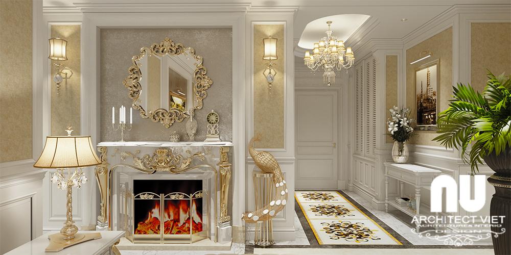 Thiết kế nội thất chung cư Goldmark 4 phòng ngủ tân cổ điển 170m