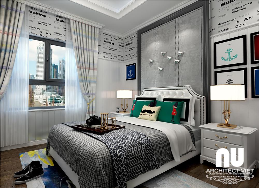 thiết kế nội thất phòng ngủ phá cách cho con trai