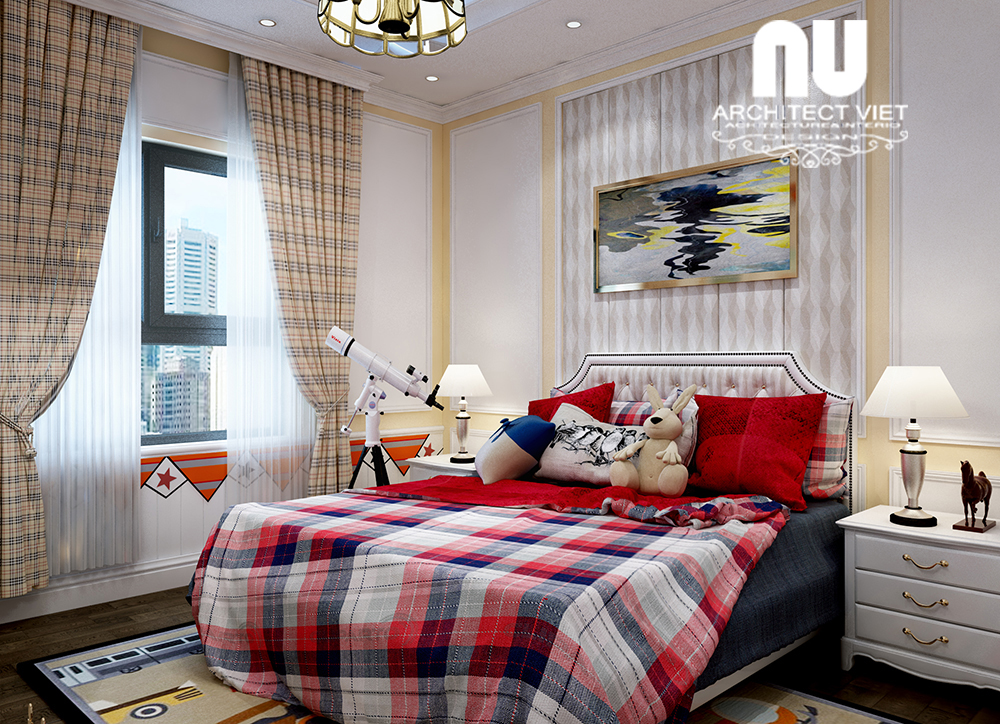 thiết kế phòng ngủ nhỏ thông thoáng với cửa sổ kính rộng