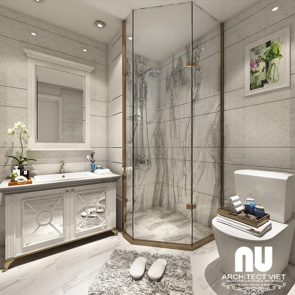 không gian phòng tắm rộng trong chung cư gold mark