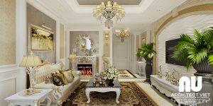 Thiết kế nội thất chung cư Golmark 4 phòng ngủ tân cổ điển 170m22