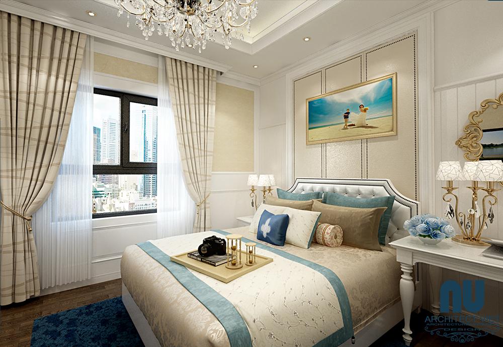 thiết kế nội thất phòng ngủ ngập tràn ánh sáng