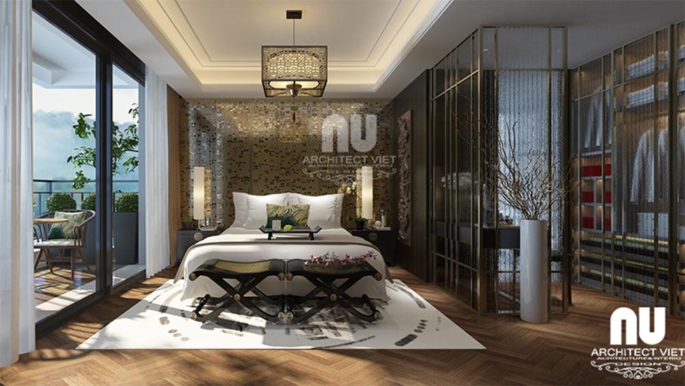 Thiết kế nội thất chung cư tân cổ điển Golden Land1
