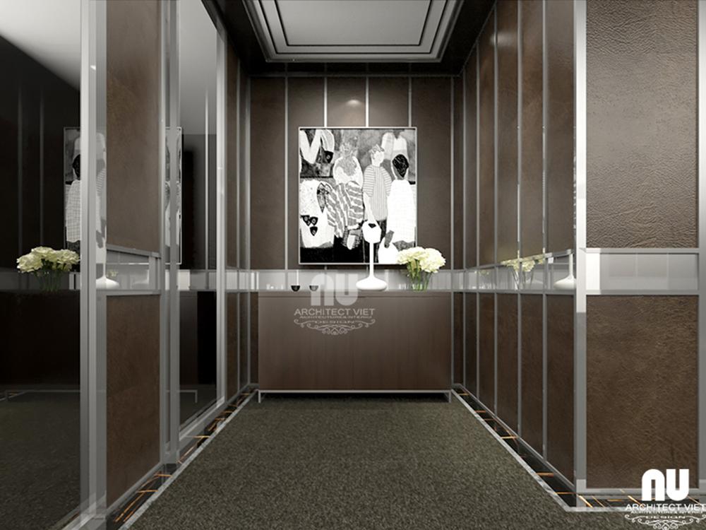 Thiết kế nội thất văn phòng làm việc công ty Việt Âu với hành lang đẹp