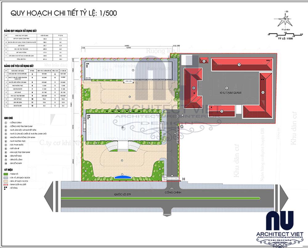 thiết kế kiến trúc trụ sở công an