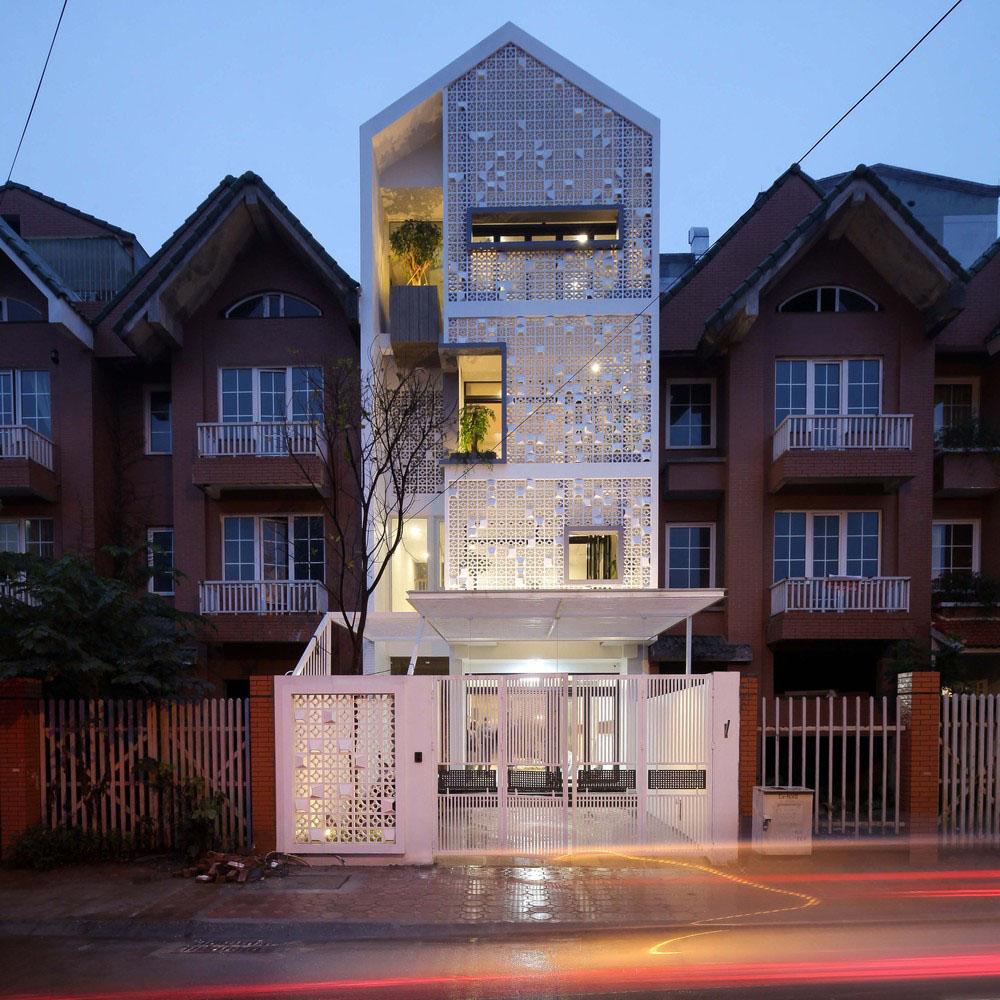 nhà phố 4 tầng 5x15m