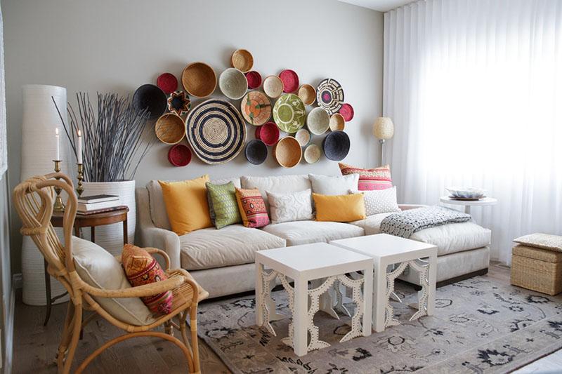 Trang trí tường nhà bằng đồ handmade 1