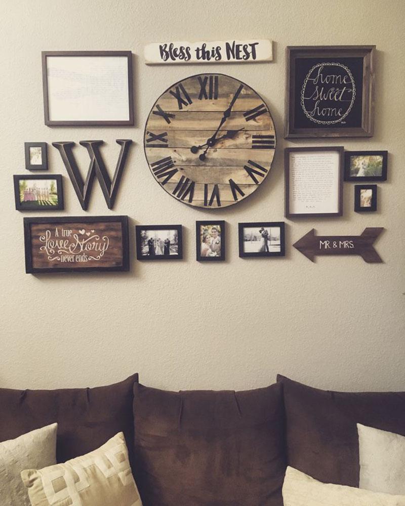 Trang trí tường bằng ảnh khung gỗ