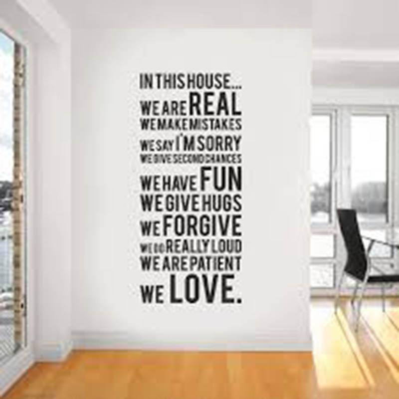 Trang trí tường nhà đẹp bằng chữ viết ý nghĩa