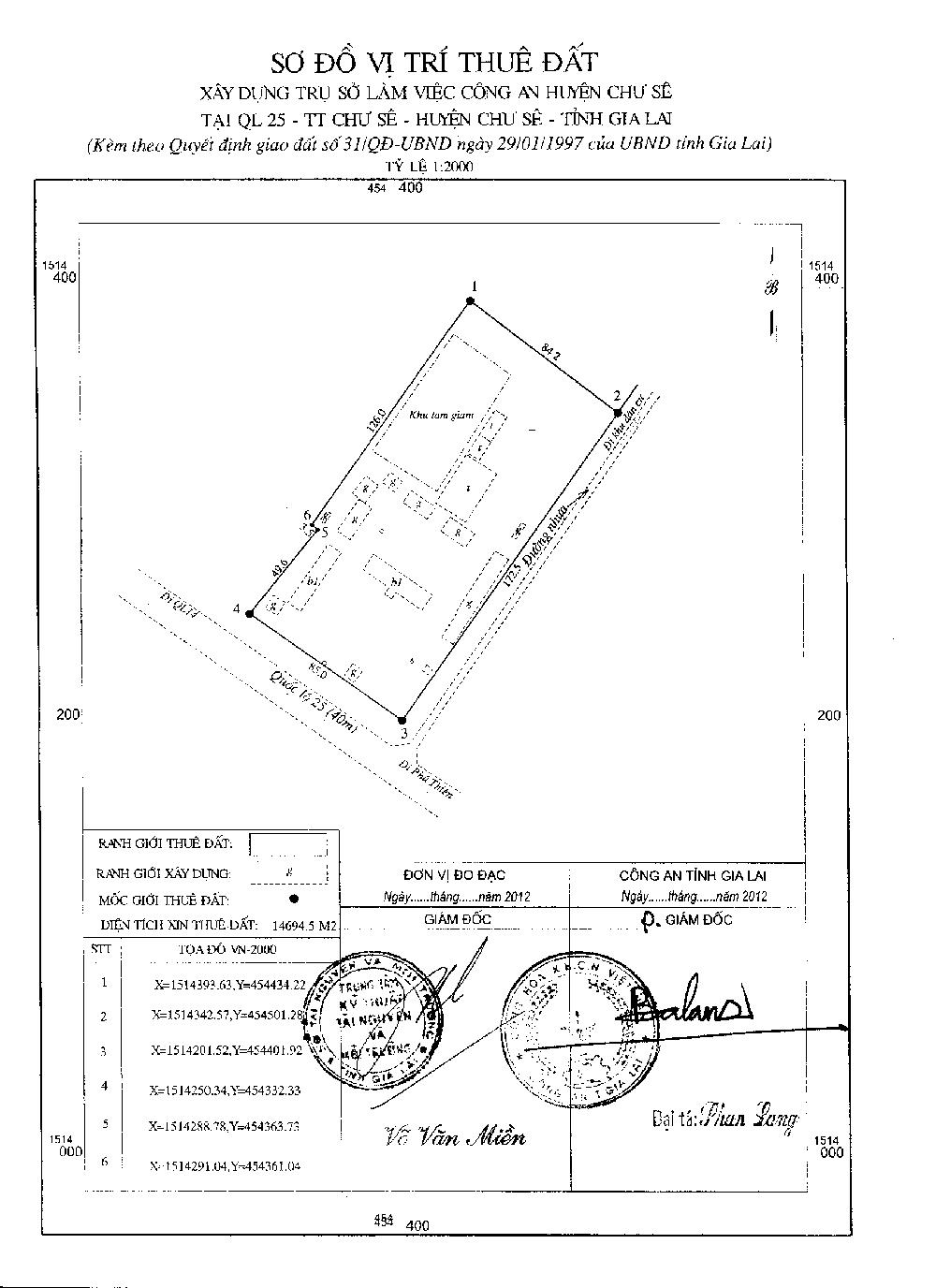 Quy hoạch trụ sở làm việc công an huyện Chư Sê1
