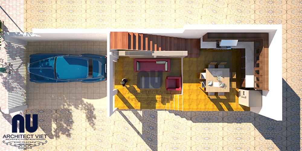 Mẫu thiết kế nhà lệch tầng khu đô thị Đại Thanh 01