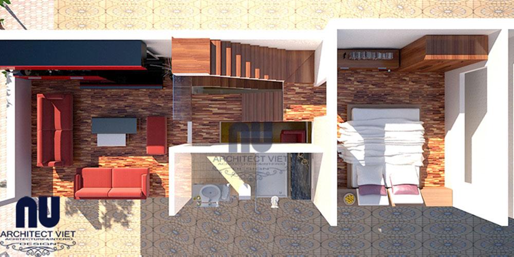 Mẫu thiết kế nhà lệch tầng khu đô thị Đại Thanh 02