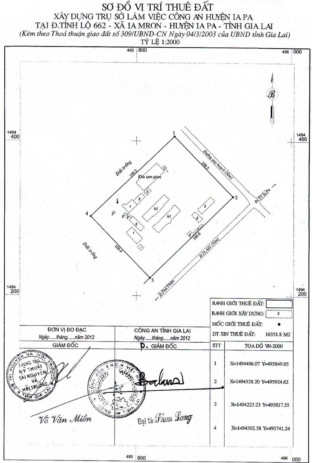 Quy hoạch trụ sở làm việc Công an huyện Iapa1