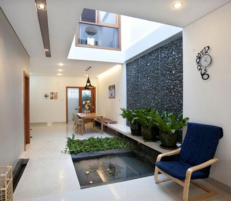 Thiết kế giếng trời trong nhà tùy vị trí