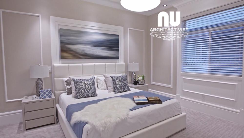 Hình ảnh nội thất phòng ngủ cho con gái tại biệt thự 300m2