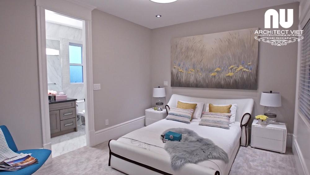 Nội thất phòng ngủ con gái được thiết kế theo phong cách nhẹ nhàng