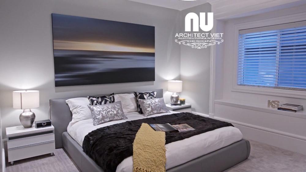 Thiết kế nội thất biệt thự Vinhomes Green Bay - phòng ngủ con trai