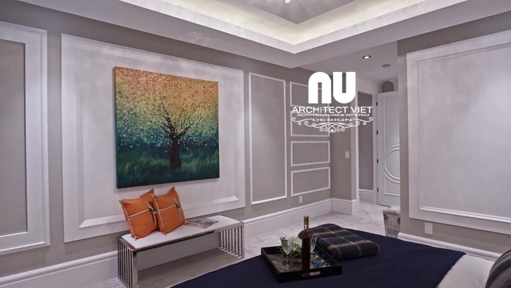 Thiết kế nội thất biệt thự 300m2 Vinhomes Green Bay- phòng ngủ con trai